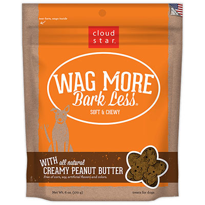 Cloud Star® Wag More Bark Less® Soft & Chewy Dog Treats with Creamy Peanut Butter 6 oz. I008321