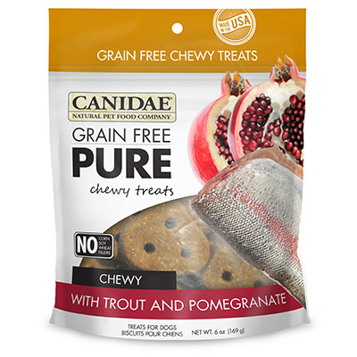 CANIDAE® Grain Free PURE Chewy Treats with Trout & Pomegranate 6 oz. I008356