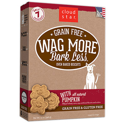 Cloud Star® Wag More Bark Less® Grain Free Oven-Baked Biscuits with Pumpkin 14 oz. I008363
