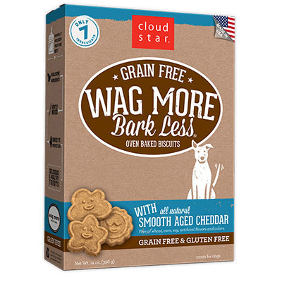 Cloud Star® Wag More Bark Less® Grain Free Oven-Baked Biscuits with Smooth Aged Cheddar 14 oz. I008364