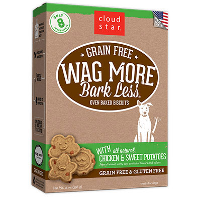 Cloud Star® Wag More Bark Less® Grain Free Oven-Baked Biscuits with Chicken & Sweet Potatoes 14 oz. I008365