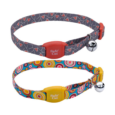 "Coastal® Safe Cat® Adjustable Breakaway Collar with Magnetic Buckle 3/8"" X 8""-12""  I008471b"