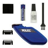Wahl® PocketPro® Cordless Trimmer Blue & Replacement Blade I008531b