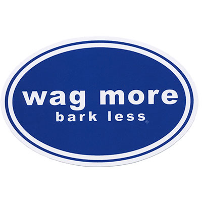 Clould Star® Wag More Bark Less® Car Magnet Dark Blue I008606
