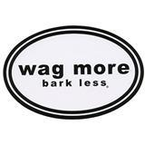 Clould Star® Wag More Bark Less® Car Magnet White I008607