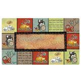 "Drymate Cat Bowl Placemat Kitty Chaos 12"" x 20"" I008663"