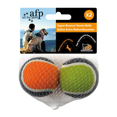 All For Paws Outdoor Dog Super Bounce Tennis Balls I008746b