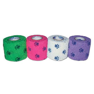 Co-Flex® PetFlex® Assorted Paw Print Patterned Bandages I008777b