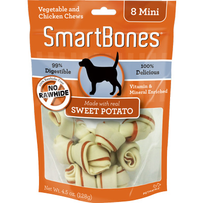 SmartBones® Vegetable & Chicken Chew With Sweet Potato Mini I008851b
