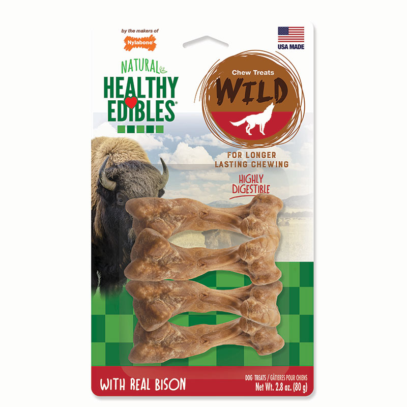 Nylabone® Healthy Edibles® Wild with Real Bison I008916b