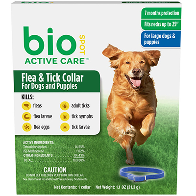 "Bio Spot Active Care™ Flea & Tick Collar for Dogs and Puppies 25"" I009016"