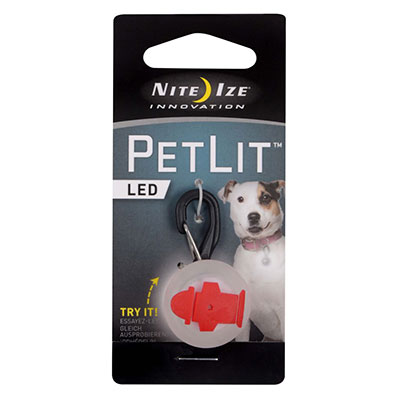 Nite Ize Innovation PetLit LED Red Hydrant  I009146