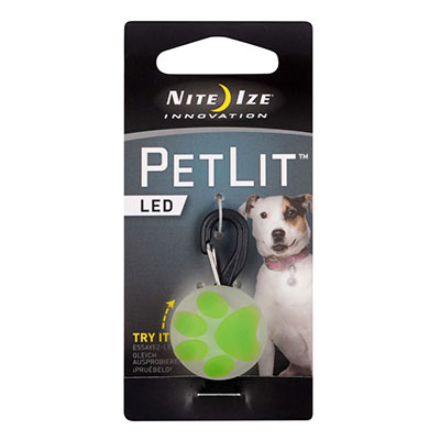 Nite Ize Innovation PetLit LED Lime Paw  I009148