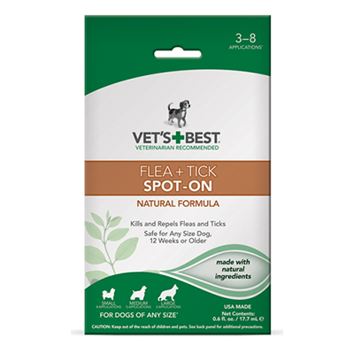 Vet's + Best™ Flea + Tick Spot-On 0.6 fl. oz. I009309