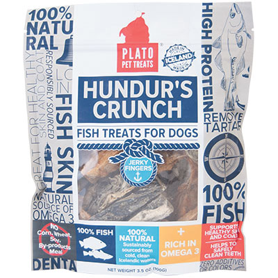 Plato® Pet Treats Hundur's Crunch Jerky Fingers 3.5 oz. I009380