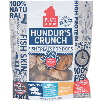 Plato® Pet Treats Hundur's Crunch Jerky Rolls 3.5 oz. I009381