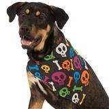 Rubie's® Pet Shop™ Boutique Spooky Skulls Halloween Dog Bandana I009398b