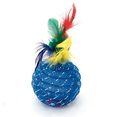 Coastal® Rascals® Pinapple Ball with Feathers I009956