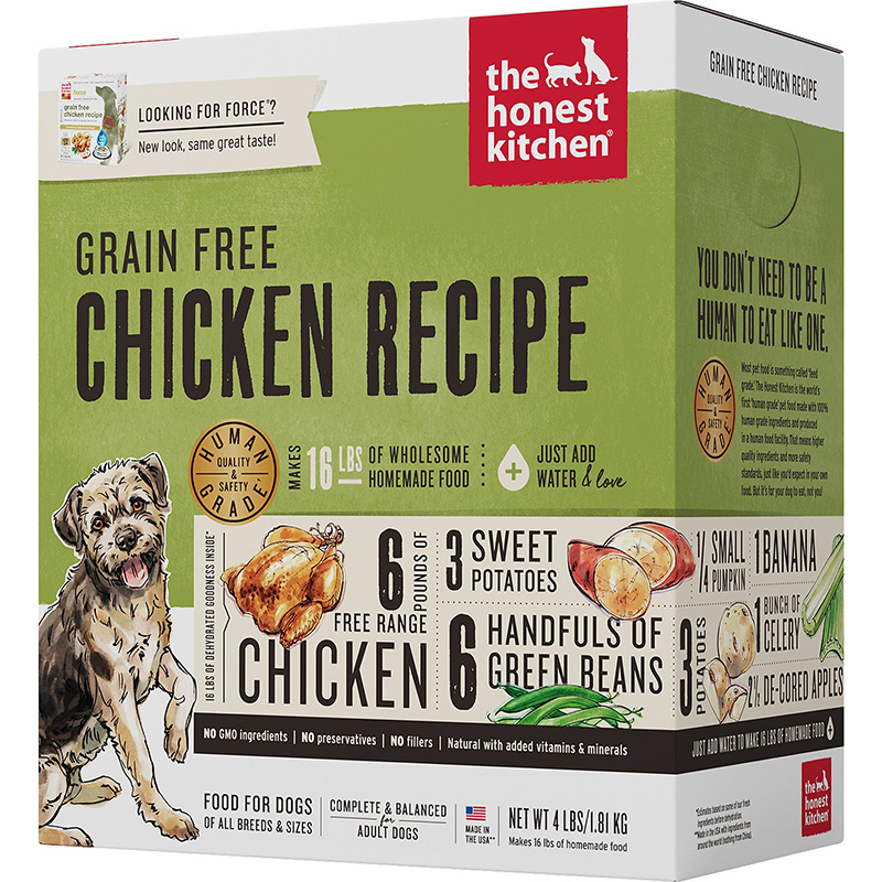 The Honest Kitchen® Force® Grain Free Chicken Recipe Dog Food I010128b