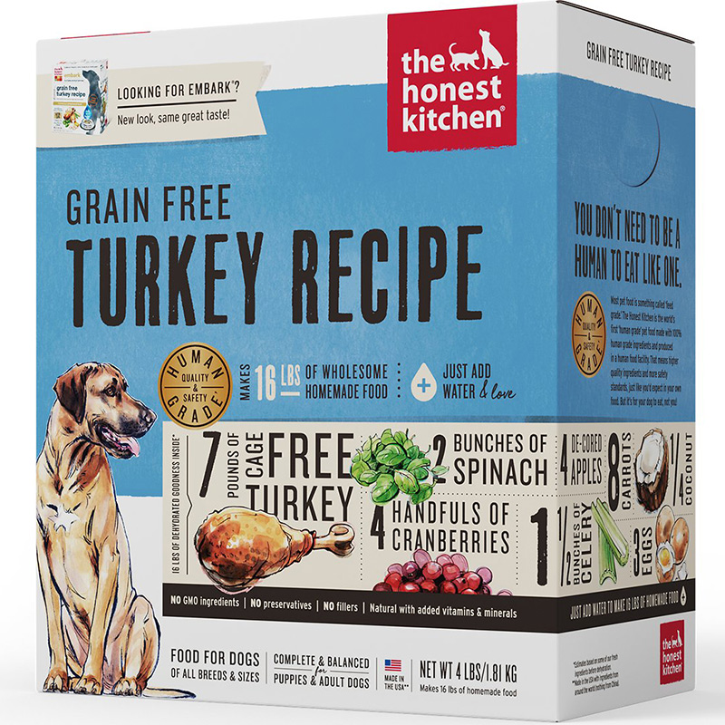 The Honest Kitchen® Embark® Grain Free Turkey Recipe Dog Food I010130b