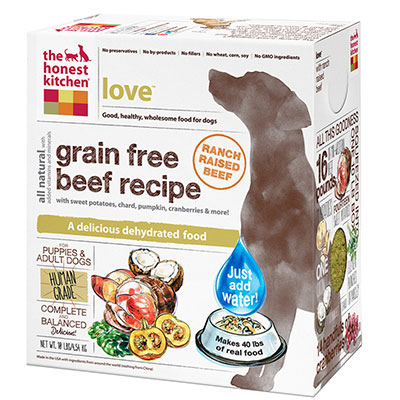 The Honest Kitchen® Love™ Grain Free Beef Recipe Dog Food I010133b