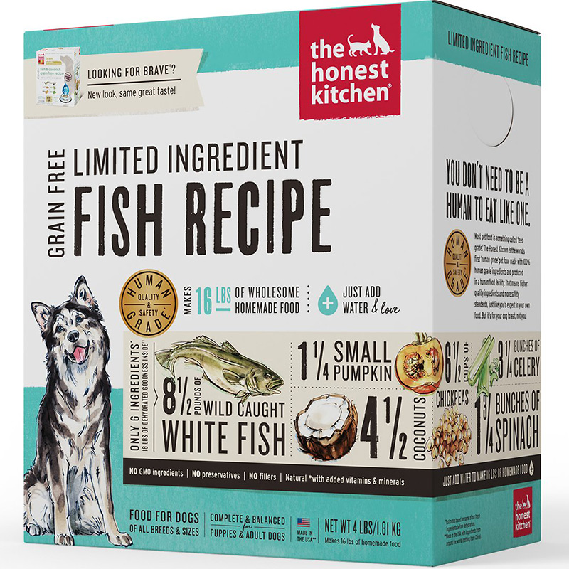 The Honest Kitchen® Brave® Fish & Coconut Grain Free Recipe Dog Food I010137b