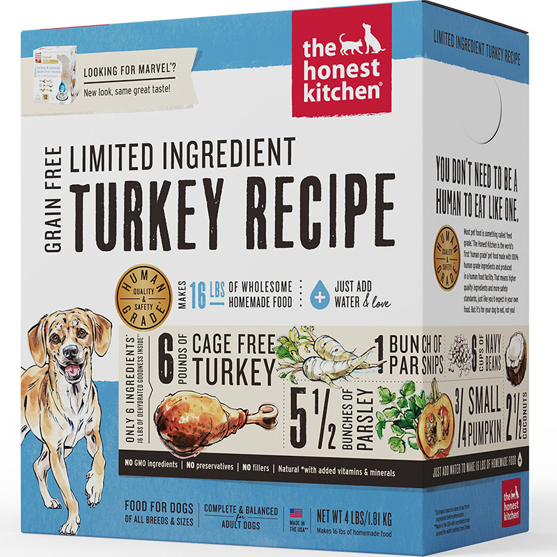 The Honest Kitchen® Marvel® Turkey & Parsnip Grain Free Recipe Dog Food I010139b