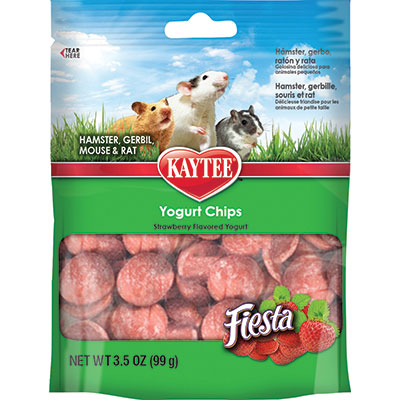 KAYTEE® Fiesta® Yogurt Chips Strawberry Flavor for Small Animals Z07185994215