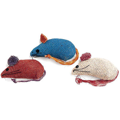 "Spot® Colored Burlap Mice™ 3 pack 4.75"" x 5.5""x 1.25"" Z07723402090"