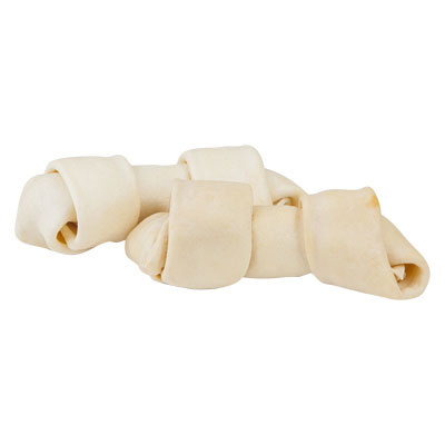 Pet Factory Clear Basted 100% American Beefhide Knotted Bone Chicken Flavor Z09498374762b