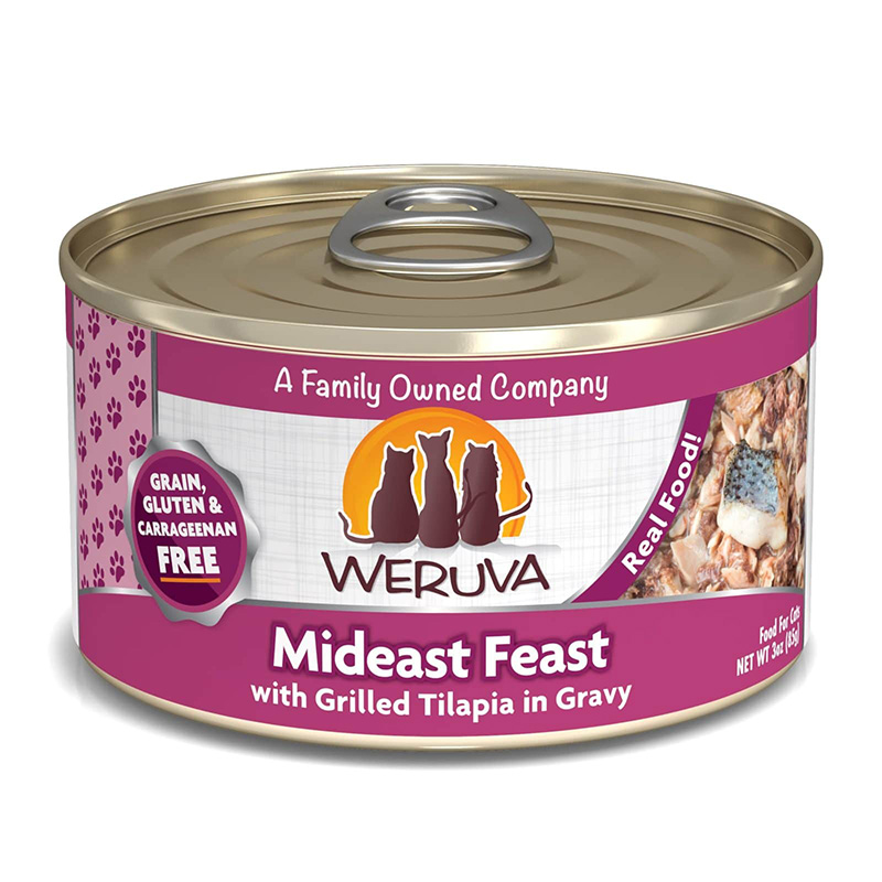 Weruva Mideast Feast with Grilled Tilapia in Gravy 111506b