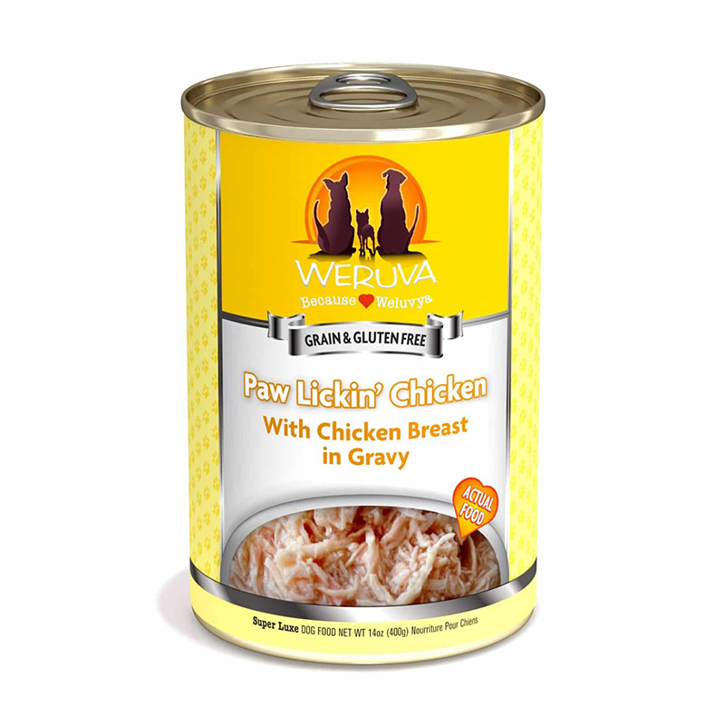 WERUVA Paw Lickin' Chicken With Chicken in Gravy Canned Dog Food 14 oz. 111540