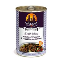 WERUVA Steak Frites with Beef, Pumpkin and Sweet Potatoes in Gravy Canned Dog Food 14 oz. 111544