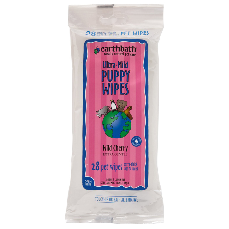 28ct Earthbath Puppy Grooming Wipes