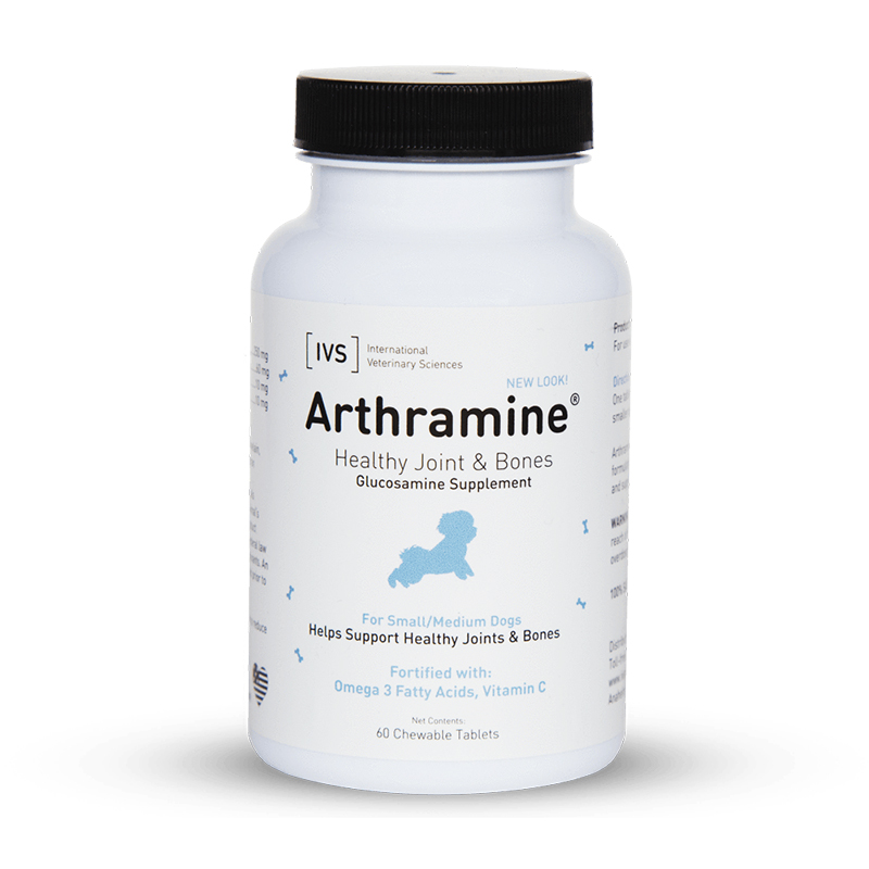 Arthramine Healthy Joint & Bones Glucosamine Supplement for Small & Medium Dogs 120 ct  2167