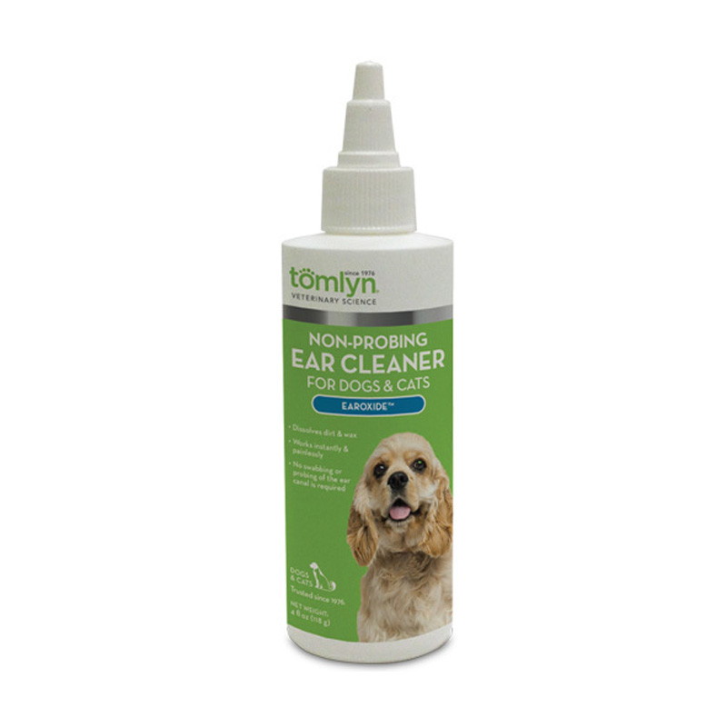 Tomlyn Non-Probing Ear Cleaner Earoxide for Dogs and Cats 4 oz  21801