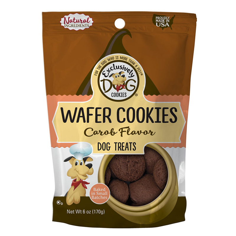Exclusively Dog® Wafer Cookies Carob 8 oz. 26332