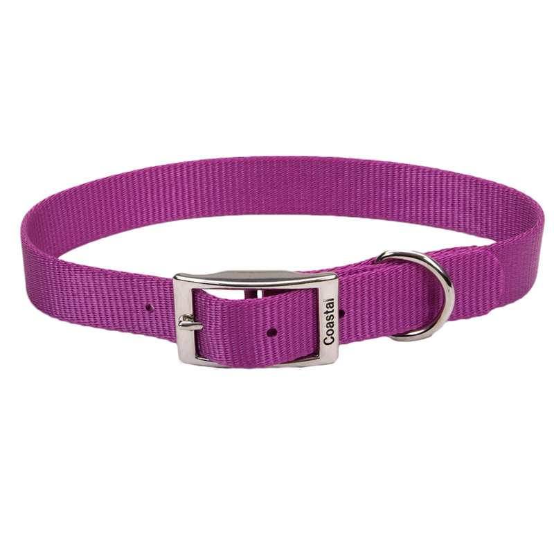 Coastal Traditional Single-Ply Dog Collar Orchid  299911216e