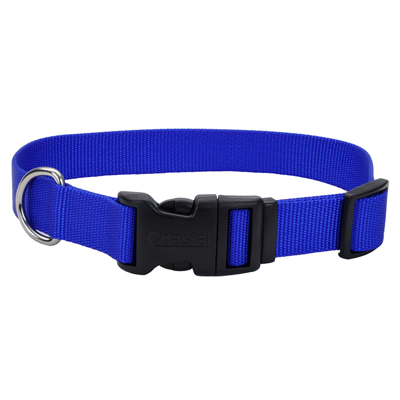 Coastal Adjustable Dog Collar with Plastic Buckle Blue 33046b