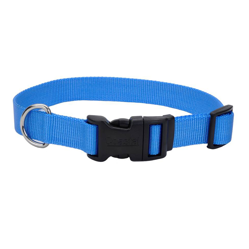 "Coastal Adjustable Dog Collar with Plastic Buckle Blue Lagoon 1"" x 14""-20""  I006322"