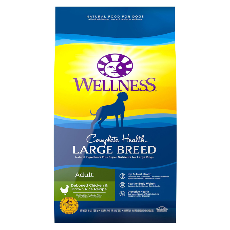 Wellness Complete Health Large Breed Deboned Chicken & Brown Rice Recipe Dry Dog Food 69245