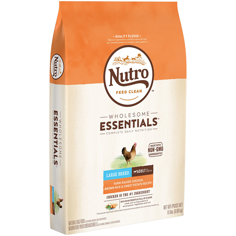 Nutro Wholesome Essentials Large Breed Adult with Farm-Raised Chicken, Brown Rice & Sweet Potato