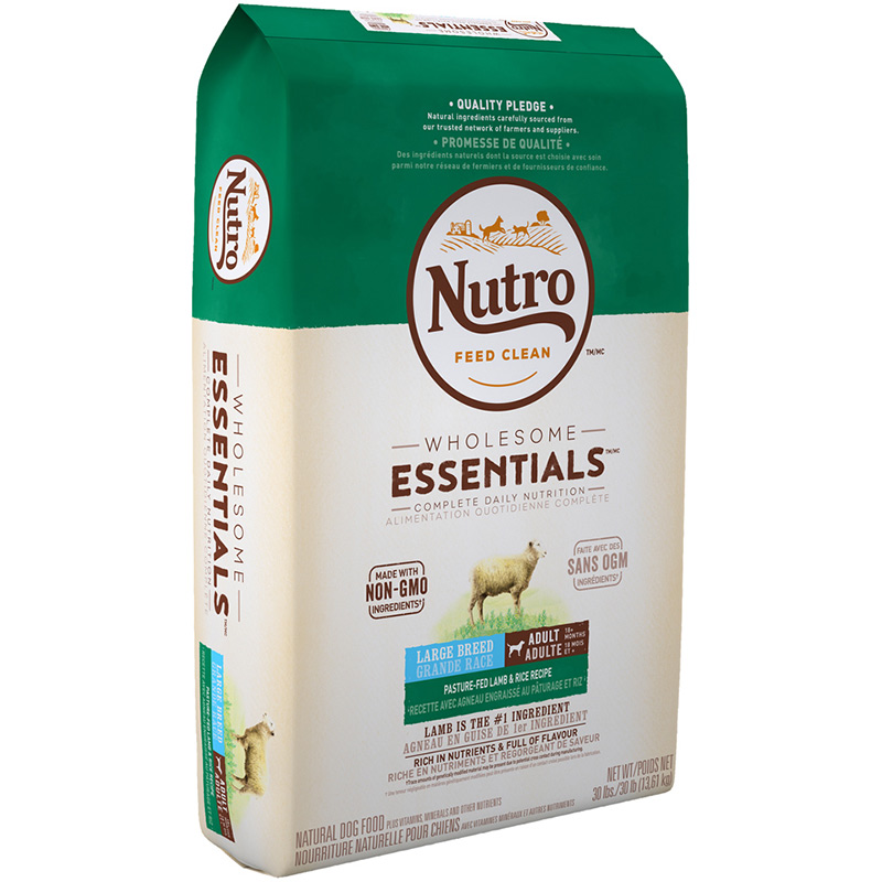 Nutro Wholesome Essentials Large Breed Adult with Pasture-Fed Lamb & Rice 30 lbs.