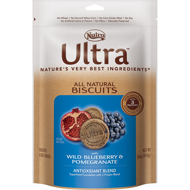 Nutro® Ultra™ All Natural Biscuit Treat Wild Blueberry & Pomegranate 16 oz.  69407