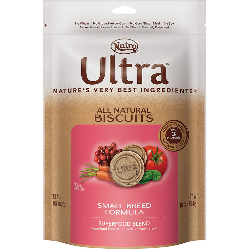 Nutro® Ultra™ All Natural Biscuit Treats Small Breed, Chicken & Rice 16 oz.  69409