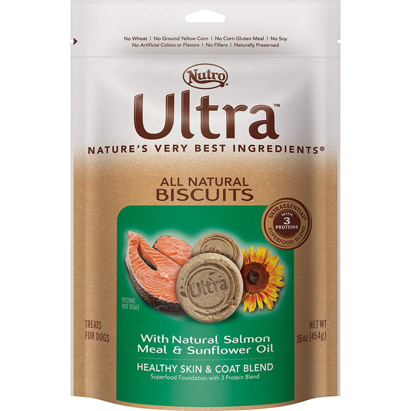 Nutro® Ultra™ All Natural Biscuit Treats 16 oz. Natural Salmon Meal & Sunflower Oil 16 oz.  69410