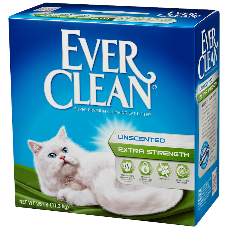 Ever Clean Unscented Extra Strength Premium Clumping Cat Litter 25 lbs 7170