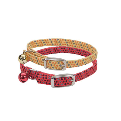 Coastal® Li'l Pals® Elasticized Safety Kitten Collar with Reflective Thread  72930b