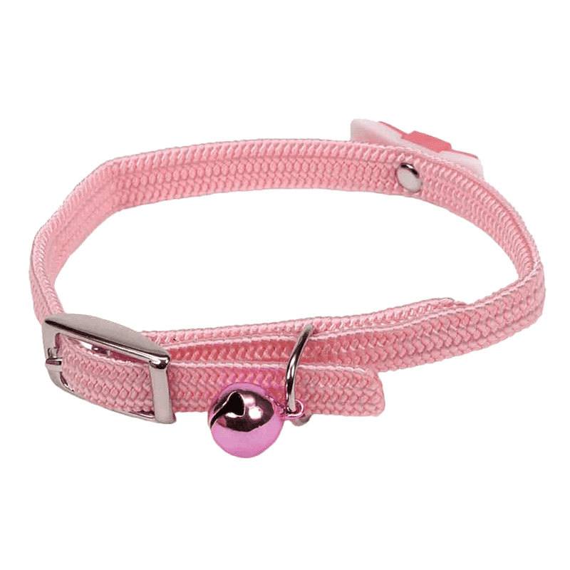 Coastal Li'l Pals Elasticized Safety Kitten Collar with Jeweled Bow Pink 72933