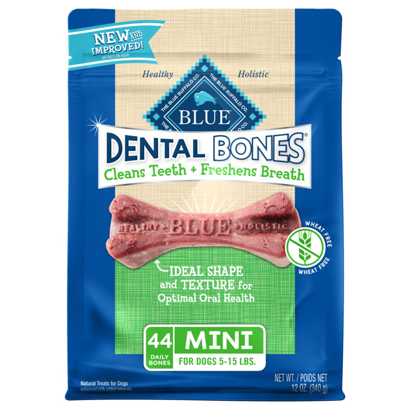 Blue Buffalo BLUE Bones Natural Dental Chew Bones Dogs Mini, for Dogs 5-15 lbs 7820687e